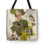 Black And Yellow Warbler Tote Bag