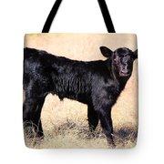 Black Angus Baby Calf Tote Bag