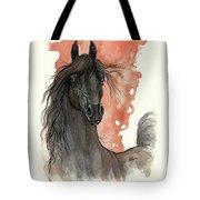 Black Arabian Horse 2013 11 13 Tote Bag