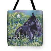 Black Australian Kelpie Tote Bag