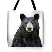 Black Bear Tote Bag by Amy Hamilton