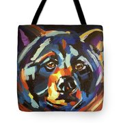 Black Bear - Black Night Tote Bag