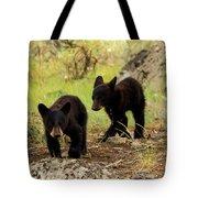 Black Bear Cubs Tote Bag