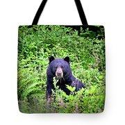 Black Bear Eating His Veggies Tote Bag