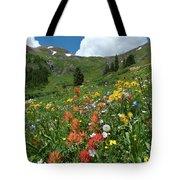 Black Bear Pass Landscape Tote Bag by Cascade Colors