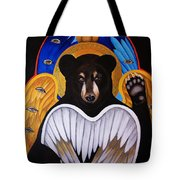 Black Bear Seraphim Tote Bag
