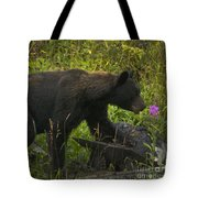 Black Bear-signed-#6549 Tote Bag
