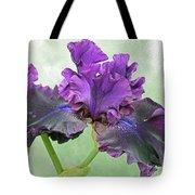 Black Bearded Iris Tote Bag