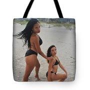 Black Bikinis 18 Tote Bag