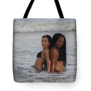 Black Bikinis 40 Tote Bag
