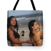 Black Bikinis 52 Tote Bag