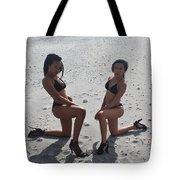 Black Bikinis 8 Tote Bag