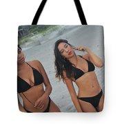 Black Bikinis Tote Bag