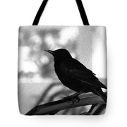 Black Bird Bw Tote Bag