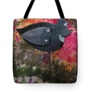 Black Bird Tote Bag by David Sutter