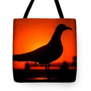 Black Bird Red Sky Tote Bag