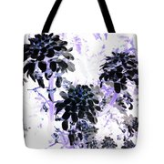 Black Blooms I I Tote Bag