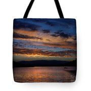 Black Butte Sunset Tote Bag