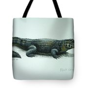 Black Caiman Tote Bag