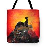 Black Cat. Mistress Of Diamond Mountain Tote Bag