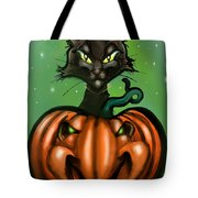Black Cat N Pumpkin Tote Bag
