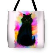 Black Cat Rainbow Sky Tote Bag