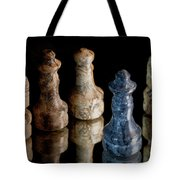 Black Chess King Defeated And Surrounded Tote Bag