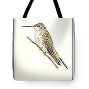 Black Chinned Hummingbird Tote Bag