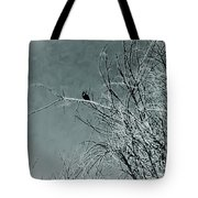 Black Crow White Snow Tote Bag