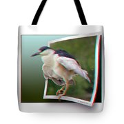 Black Crowned Night Heron - Use Red-cyan 3d Glasses Tote Bag