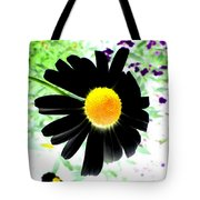 Black Daisy Tote Bag