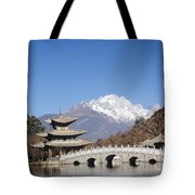 Black Dragon Pool Park Tote Bag