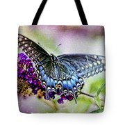 Black Eastern Swallowtail Tote Bag