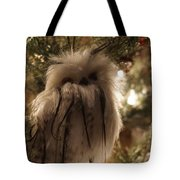 Black Feather Owl Tote Bag