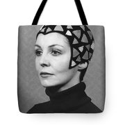 Black Felt Skull Cap Model Tote Bag