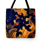 Black Fire Tote Bag