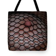 Black Fishnet Tote Bag