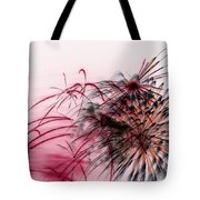 Black Flower With Red Tote Bag
