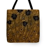 Black Flowers Tote Bag
