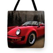 Black Forest - Red Speedster Tote Bag