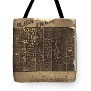 Black Friday, 1869 Tote Bag
