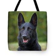 Black German Shepherd Dog Tote Bag