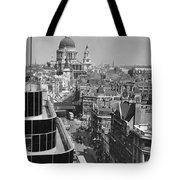 Black Glass Step-backs Of Daily Express Tote Bag