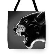 Black Glow Tiger Tote Bag