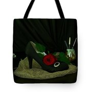 Black, Gold, And Shoe Tote Bag
