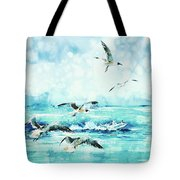 Black-headed Seagulls At Seven Seas Beach  Tote Bag