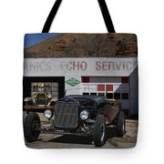 Black Ford Hot Rod Convertible Tote Bag