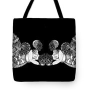 Black Infinity Tote Bag