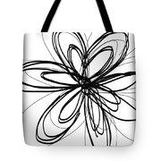 Black Ink Flower 1- Art By Linda Woods Tote Bag