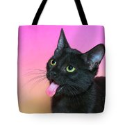 Black Kitten Says Yuck Tote Bag